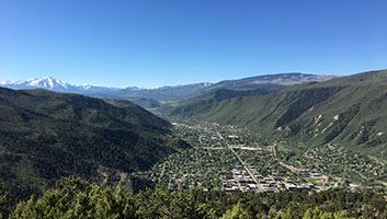 Aerial Photo Glenwood Springs